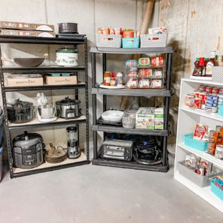 Our clients asked us to organize their basement 'overflow' pantry. This was a fun project that took just a little over two hours, 1 new set of shelves, and some product to complete. Swipe for before! #homeorganization #nky #nkyhomes #greatercincinnatihomes #homeorganizing #simplicityreimaginedllc