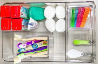 We think kids bathroom drawers can be fun, colorful, and organized for optimal use!